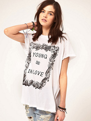 T-shirts - Wildfox Young And In Love T-Shirt - Clean white