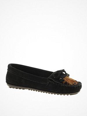 Tygskor & lågskor - Minnetonka Feather Moc Black Shoes