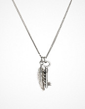 Smycken - Simon Carter Key and Feather Necklace Exclusive to ASOS