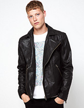 Jackor - Barneys Originals Barney's Leather Jacket Biker