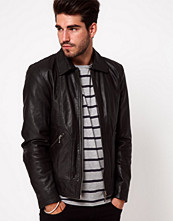 Jackor - Nudie Jeans Nudie Leather Jacket Jonny Biker