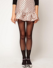 ASOS 20 Denier Tights With Scalloped Edge Mock Sock