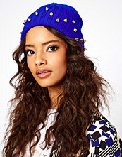 ASOS Beanie With Studded Turn Up