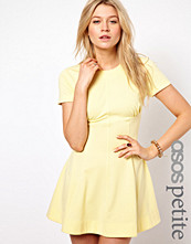 ASOS PETITE Exclusive Skater Dress With Ruch Detail