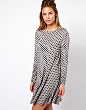 Glamorous Swing Dress In Polka Dot