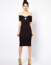 Oh My Love Off The Shoulder Midi Bodycon Dress