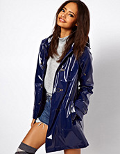 ASOS Rain Mac With Metal Clasps