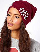 ASOS Turn Up Beanie With Embellishment