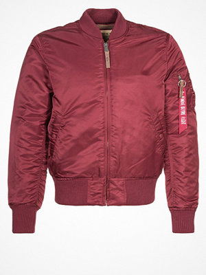 Jackor - Alpha Industries Bomberjacka burgundy