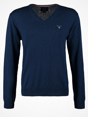 Gant Stickad tröja marine melange