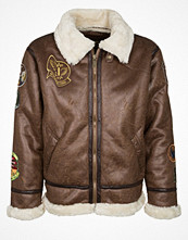 Jackor - Alpha Industries B3 FL PATCH Allvädersjacka brown