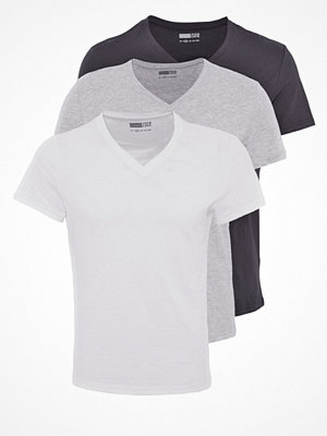 Pier One 3 PACK Tshirt bas white/black/grey