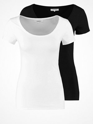 Zalando Essentials 2 PACK Tshirt bas black/white