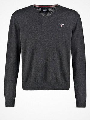 Gant Stickad tröja dark charcoal melange
