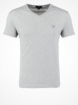 Gant Tshirt bas light grey melange