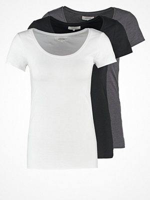 Zalando Essentials 3 PACK Tshirt bas black/white/dark grey