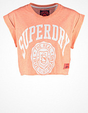 Superdry THE REAL THE TRUE Tshirt med tryck ice marl/phosphorescent coral