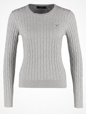 Gant Stickad tröja light grey melange