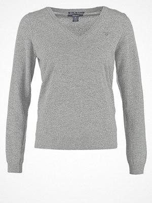 Gant EXTRAFINE VNECK Stickad tröja dark grey
