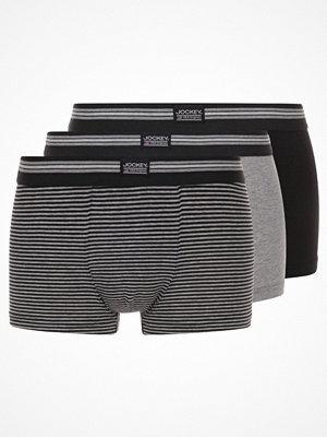 Jockey COTTON STRETCH TRUNK 3 PACK Underkläder black/grey