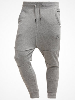 Sportkläder - Jack & Jones JJCOJADE TIGHT FIT Träningsbyxor light grey melange