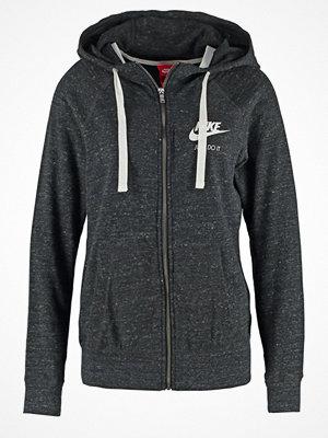 Street & luvtröjor - Nike Sportswear GYM VINTAGE Sweatshirt noir/blanc