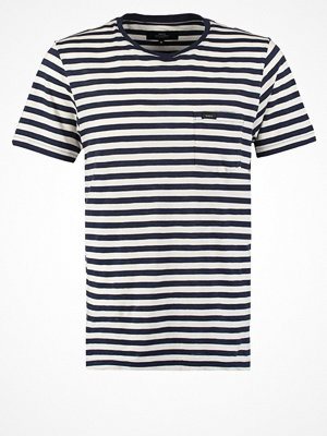 Makia VERKSTAD Tshirt med tryck white/navy