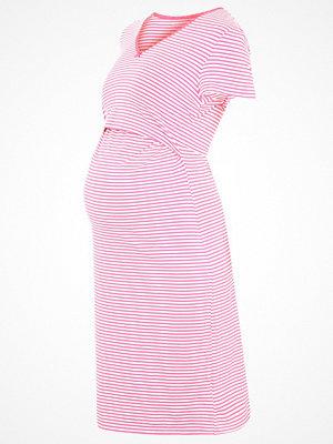 Nattlinnen - Boob Nattlinne stripe off white/sweet fuchsia