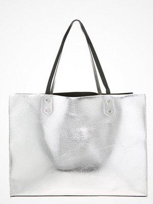 Even&Odd vit shopper Shoppingväska silver/black