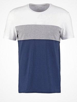 YourTurn Tshirt med tryck white/dark blue