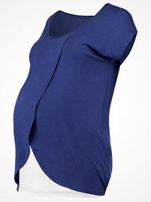 Zalando Essentials Maternity Tshirt med tryck dark blue