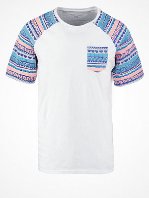 YourTurn Tshirt med tryck white/blue