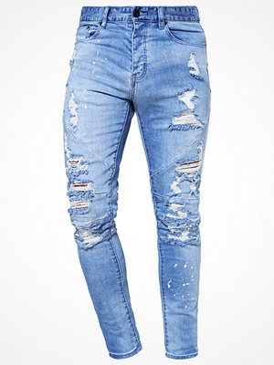 Cayler & Sons Jeans Tapered Fit distressed light blue/white