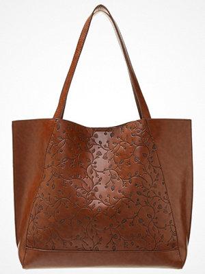 Anna Field brun shopper med tryck Shoppingväska brown