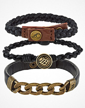 Smycken - Icon Brand 3 PACK Armband black