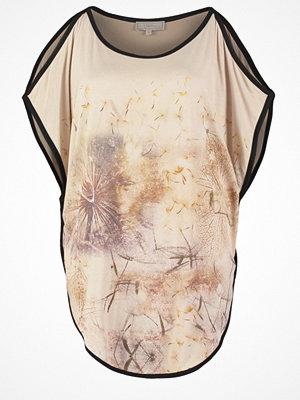 Cream Tshirt med tryck oxford tan