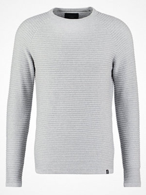 Jack & Jones JCOWIND  Stickad tröja light grey melange
