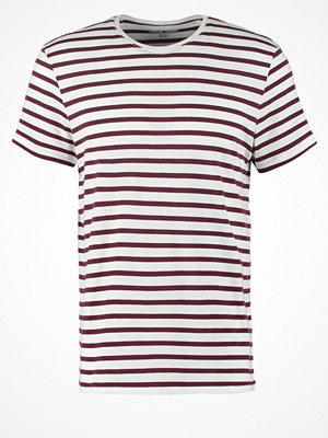 YourTurn Tshirt med tryck white/bordeaux