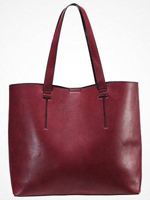 Even&Odd omönstrad shopper Shoppingväska red/black