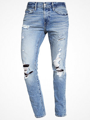Jeans - Abercrombie & Fitch Jeans slim fit light destroyed