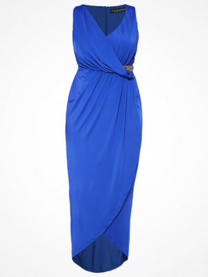 Little Mistress Curvy Jerseyklänning cobalt blue
