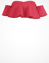 Missguided Tshirt med tryck burgundy