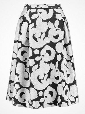 Reiss DREW Veckad kjol black/off white