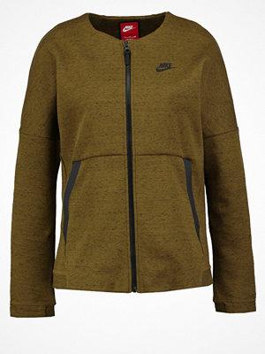 Street & luvtröjor - Nike Sportswear TECH FLEECE  Sweatshirt olive flak/heather/olive flak/black