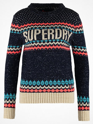 Superdry MORZINE Stickad tröja navy