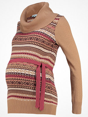 Anna Field MAMA Stickad tröja camel/port royal