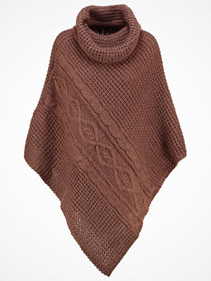 Only ONLSOLO Poncho deep taupe