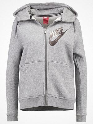Street & luvtröjor - Nike Sportswear Sweatshirt carbon heather/dark grey/metallic red bronze
