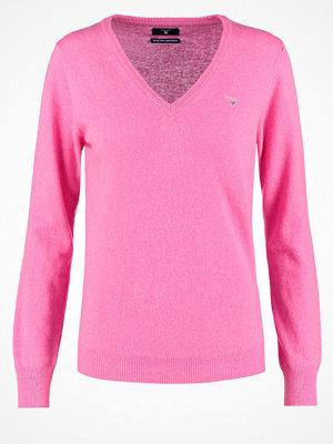 Gant Stickad tröja pink melange