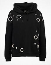 Street & luvtröjor - Topshop EYELET Sweatshirt black